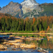 Nove Strbske Pleso, High Tatras in autumn — Stock Photo #15324175