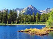 Strbske Pleso and Solisko Peak in High Tatras — Stock Photo
