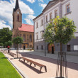 Church and County House in Dolny Kubin - Lizenzfreies Foto