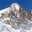 Winter view of the Lomnicky peak (Lomnicky stit) — Stock Photo
