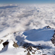 View from the Lomnicky peak during winter - Stock Photo