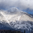 Clouds in High Tatra mountains during winter — Stock Photo