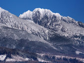 Massifs of High Tatras in winter — Stock Photo