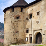 Main entrance to the Old Castle (Starý Zámok) — Stock Photo