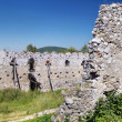 Ruined fortification walls of the Castle of Cachtice - Stock Photo