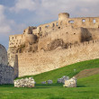 Fortification of Spissky Castle before sundown - Stock Photo