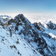Kolovy peak (Kolovy stit) in High Tatras during winter - Stock Photo