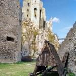 Battering ram under castle of Beckov — Stock Photo