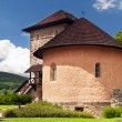 Massive bastion and fortification of the castle of Kremnica - Stock Photo