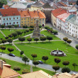 Aerial view of Kremnica town in summer — Stock Photo