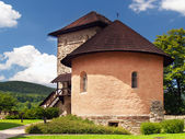 Massive bastion and fortification of the castle of Kremnica — Stock Photo