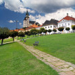 Walkway and towers of Kremnica castle - Stock Photo