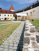 Courtyard of Kezmarok Castle, Slovakia — Stock Photo