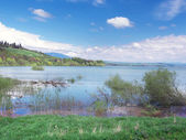 Very high water level on Liptovska Mara — Stock Photo
