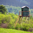 Mountainside watchtower — Stock Photo