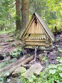 Wooden cabin in countryside — Zdjęcie stockowe