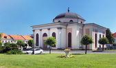 Evangelic church in medieval Levoca — Stock Photo