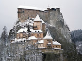 Famous Orava Castle in winter — Stock Photo