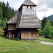 Rare wooden church in Zuberec museum — Stock Photo