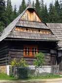 Wooden folk house in Zuberec museum — Stock Photo