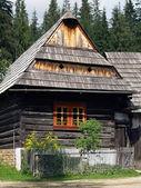 Wooden folk house in Zuberec museum — Stock Photo