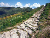 Tourist path on Chleb peak — Stock Photo