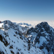 Winter outlook from Lomnicky Peak — Foto Stock