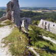 Outlook from ruins of Cachtice Castle — Stock Photo