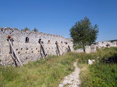 Fortification wall at the Castle of Cachtice — Stock Photo