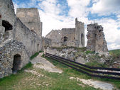 Inside ruins of The Castle of Beckov — Stock Photo