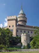 Bojnice castle and romantic towers — Stock Photo