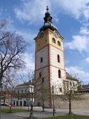 Turm der stadtschloss in banska bystrica — Stockfoto