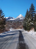 Road to High Tatras in winter — Stock Photo