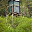 Stock Photo: Watch tower in deep forest