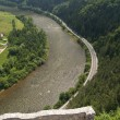 Aerial view from The Castle of Strecno — Stock Photo