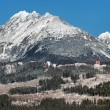 Stock Photo: High Tatras massif in winter