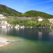 Summer view of Sutovo lake, Slovakia — Stock Photo