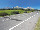 Main road leading to High Tatras in summer — Stock Photo