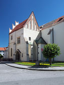 Entance to church of St. James in Levoca — Stock Photo