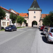 Stock Photo: Main gate of Levoctown, Slovakia