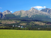 High Tatras and meadow in Slovakia — Stock Photo