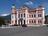 Stadhuis in ruzomberok, Slowakije — Stockfoto