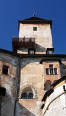 Tower and sightseeing deck at Orava Castle — Stock Photo