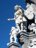 Saint Michael on pillar in Banska Stiavnica — Stock Photo