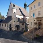 Entrance to town hall in Banska Stiavnica — Stock Photo