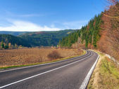 Road to Podbiel, Slovakia — Stock Photo