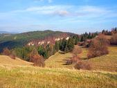 Campos de otoño en el tupa skala, Eslovaquia — Foto de Stock