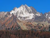 Peaks of High Tatras in autumn — Stock Photo