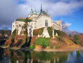 Famous Bojnice castle in autumn — Stock Photo