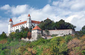 Bratislava Castle on hill above Old Town — Stock Photo